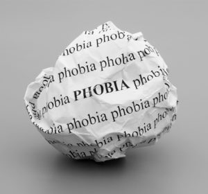 Phobias - Image of a ball of paper with the word Phobia